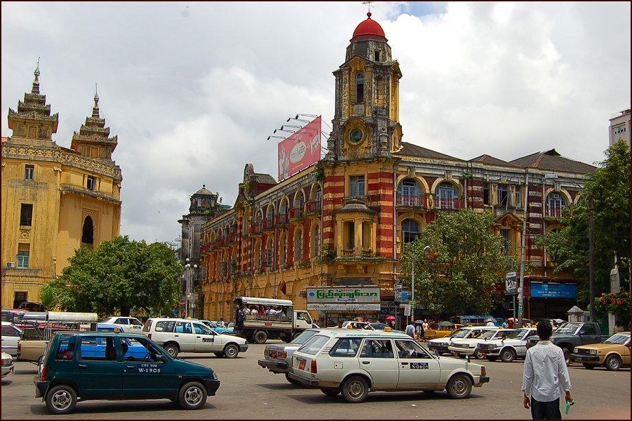 Một góc thành phố Yangon
