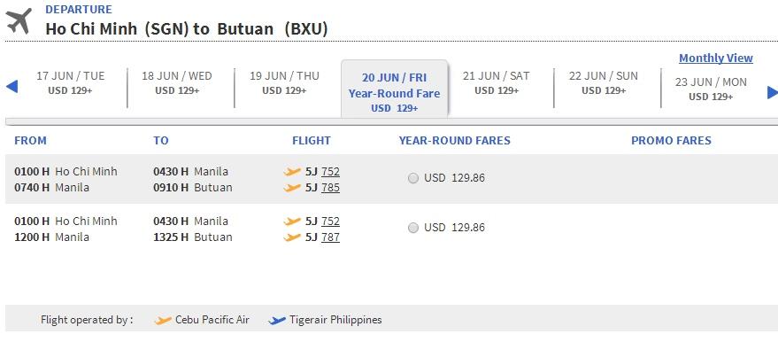 Vé máy bay đi Butuan giá rẻ