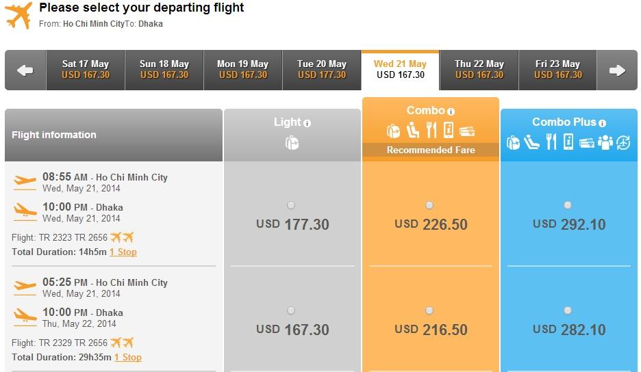 Vé máy bay giá rẻ từ Hà Nội đi Bangladesh