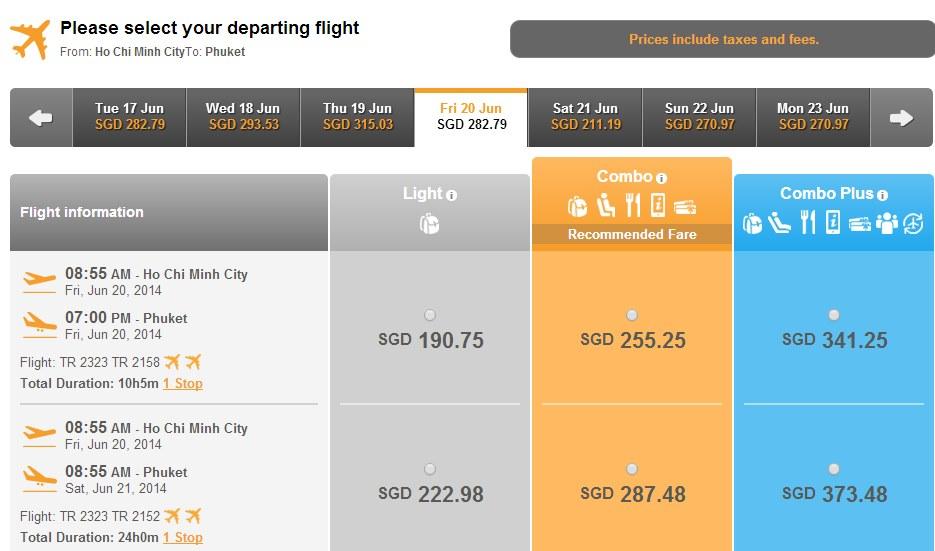 Vé máy bay Hồ Chí Minh đi Phuket