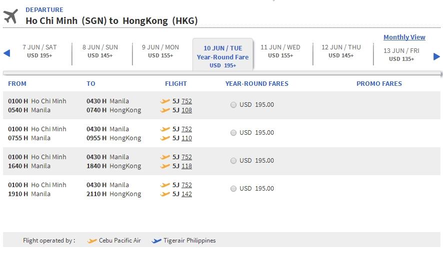 Vé máy bay Hồ Chí Minh đi Hồng Kông