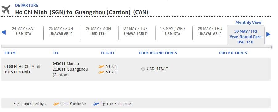 Vé máy bay đi Quảng Châu giá rẻ