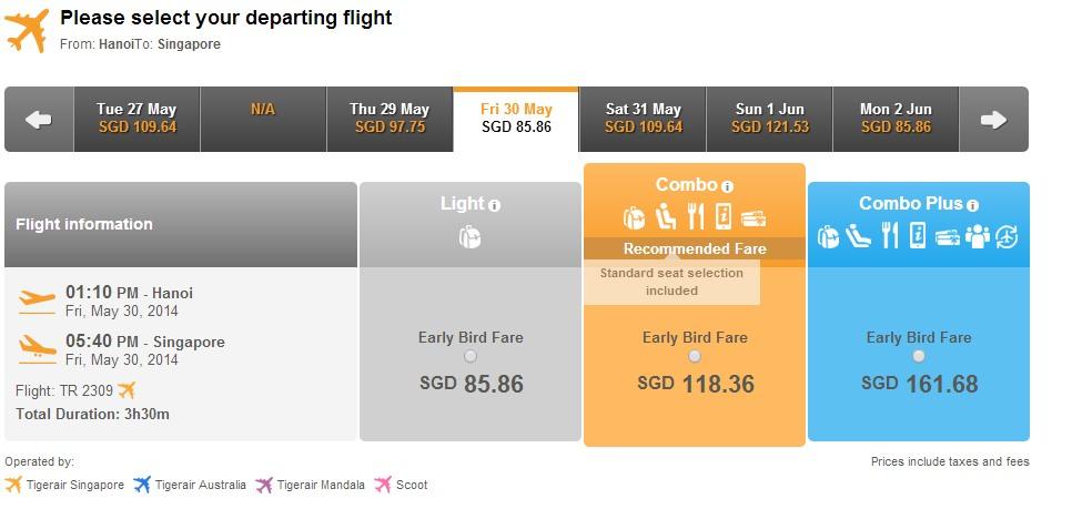 Mua vé máy bay đi Singapore ở đâu?