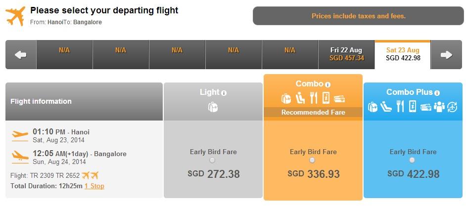 Vé máy bay Lao Airlines Hà Nội đi Bangalore