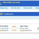 Giá vé náy bay Hồ Chí Minh đi Viêng Chăn