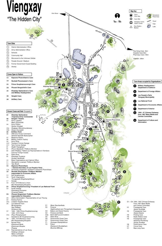 Thăm những hang động Cách Mạng tại Viengxay