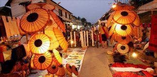 Vẻ đẹp chợ đêm ở Luang Prabang.