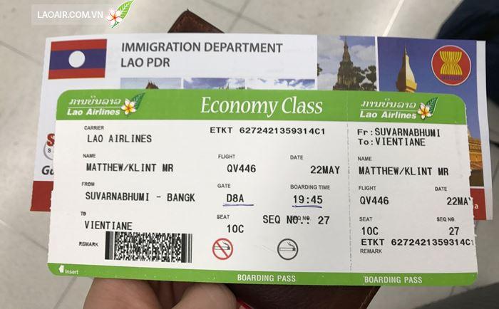 Lưu ý điều kiện hủy vé máy bay của Lao Airlines