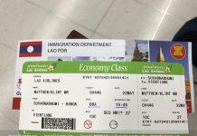 Mặt vé Lao Airlines